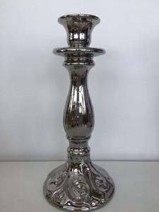 Купить Подсвечник, H27 см, серебряный