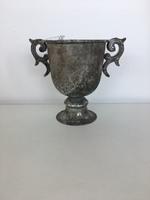 Кашпо Венеция, серебряный