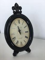 Часы настольные овал., D17*H30 см, черный