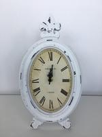 Часы настольные овал., D17*H30 см, белый