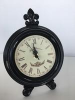 Часы настольные круг., D18*H25 см, черный