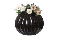 Декорат. ваза  черный лак и перлам 55см