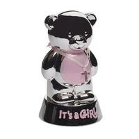 Копилка-медвежонок (розовый) 8,5х8,5х14,5