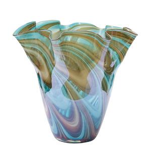 Купить Ваза стеклянная (цветная) H28D30