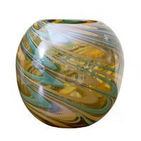 Ваза стеклянная (цветная) H23D26