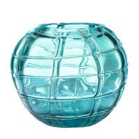 Ваза стеклянная (синяя) H17D19