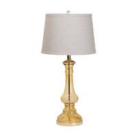 Лампа настольная, золотая