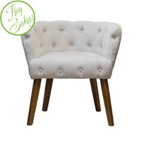 Кресло светло-бежевое велюровое