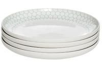 Тарелка белая с бирюзовым рисунком (4)