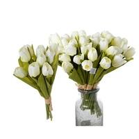 Букет из 9-ти тюльпанов белых