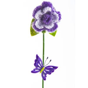 Купить Набор вставок декоративных Цветок, сиреневый