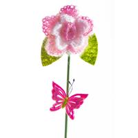 Набор вставок декоративных Цветок, розовый