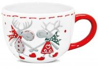 """Чашка """"Новогодние олени"""" 300 мл"""