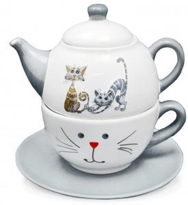 """Купить Комплект для чая """"Коты"""""""
