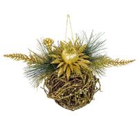 """Рождественское украшение """"Шар"""" золотое"""