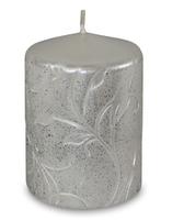 Свеча серебро 10х7х7