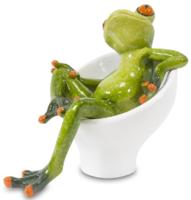 Фигурка жаба в кресле