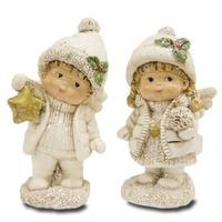 """Статуэтка """"Ангелочки с новогодними игрушками"""""""