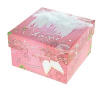 """Коробка подарочная квадрат """"Ты ангел"""",12х12х7,5см"""