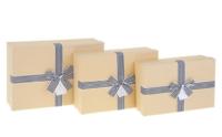 "Коробка прямоугольник крафт ""Точки"" (24*17*6,5 см)"