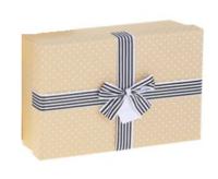 "Коробка прямоугольник крафт ""Точки"" (29*21*9 см)"