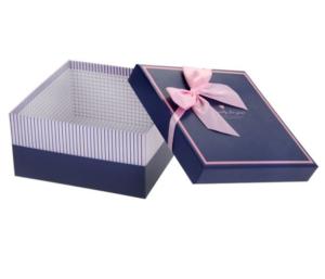 Купить Коробка квадрат (19*19*10 см), синяя