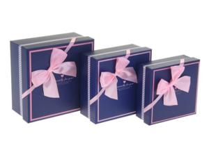 Купить Коробка квадрат (15*15*6,5 см), синяя