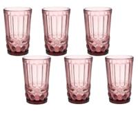 """Стакан 350 мл """"Ла-Манш"""", 8*8*12,5 см, цвет розовый"""