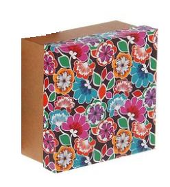 """Купить Коробка """"Цветы"""" 18*18*9,5"""