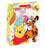 """Пакет ламинированный """"Поздравляем!"""", Медвежонок Винни и его друзья"""
