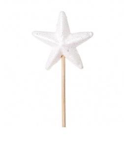 Купить Звезда с глиттером на вставке, белый