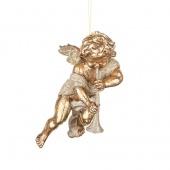 Украшение подвесное Ангел 27см, золотой