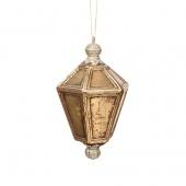 Украшение подвесное Фонарь 16,5см золотой