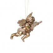 Украшение подвесное Ангел 15см золотой