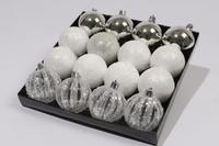 Набор шаров 16 шт, серебрянный
