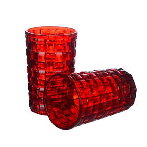 Купить Стакан для воды нежный Красный квадрат