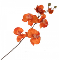 Цветок искусственный Фаленопсис, оранж, 76см, У
