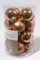 Набор стеклянных шаров 16 шт, коричневые