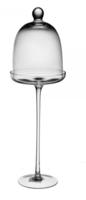 Блюдо с крышкой на ножке (стекло) H40см