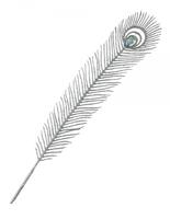 Ветка декоративная серебрянная