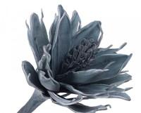Цветок искусственный 110см, голубой лед