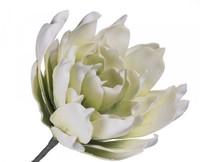 Цветок искусственный 90см, белый-салатовый