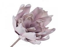 Цветок искусственный 90см, белый-сиреневый
