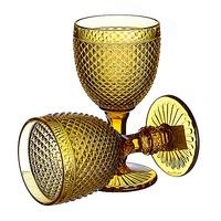 Бокал для вина Ромбик, желтый