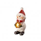 Сувенир  Снеговик, белый/ красный