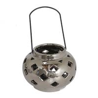 Декоративный фонарь-подсвечник Amore,серебряный