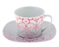 """Набор чайный """"Бурлеск"""", 2 предмета: чашка 220 мл, блюдце"""