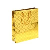 Пакет голография  цвет золотой, У