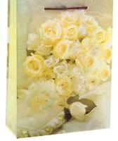 """Пакет пластиковый """"Свадебные цветы"""""""