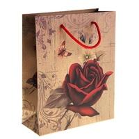 """Пакет крафт """"Королева цветов"""""""